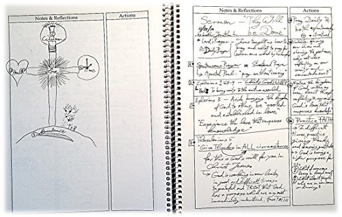 Calendar Notebook Design : Christian sermon journal monthly planner