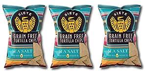 Siete Sea Salt Tortilla Chips, Grain Free, Paleo, Vegan - 5 Ounce (3 Pack)