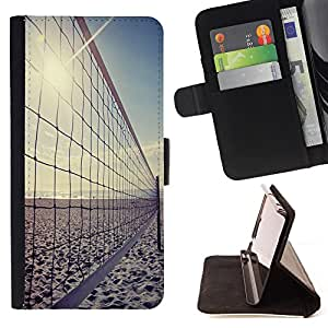 - Volleyball Beach Funny Sunshine - - Estilo PU billetera de cuero del soporte del tir¨®n [solapa de cierre] Cubierta FOR Apple Iphone 6 PLUS 5.5 Retro Candy