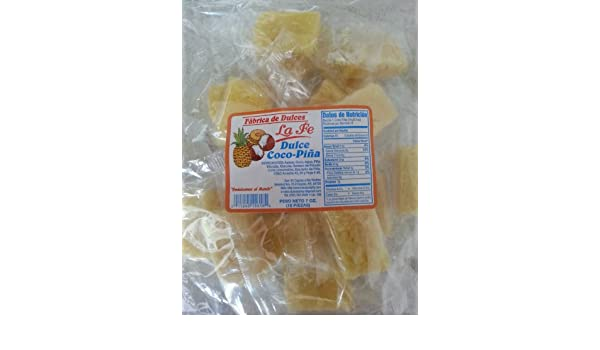Amazon.com : Coconut-Pineapple Candy (Coco-Pina) By Fabrica De Dulces La Fe : Chocolate And Candy Assortments : Grocery & Gourmet Food