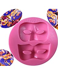 Anyana Masquerade Mask cake border mould cake Fondant silicone gum paste mold for Sugar paste fancy party cupcake decorating topper decoration sugarcraft icing biscuit decor
