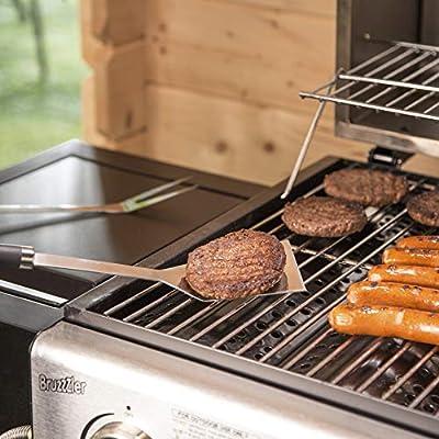 Landto Set di 5 forchette barbecue telescopiche in acciaio inossidabile in acciaio inossidabile