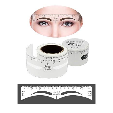 ELEVEN EVER - 50 pegatinas para cejas, desechables, con forma de cejas, adhesivas