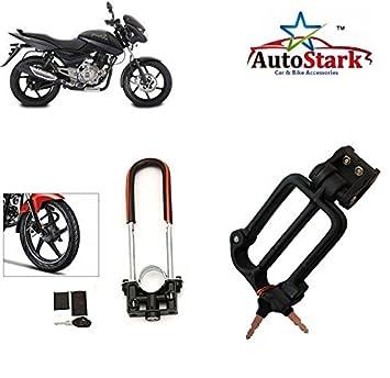 Autostark Bike Front Shocker Lock With Helmet Lock Bajaj Pulsar