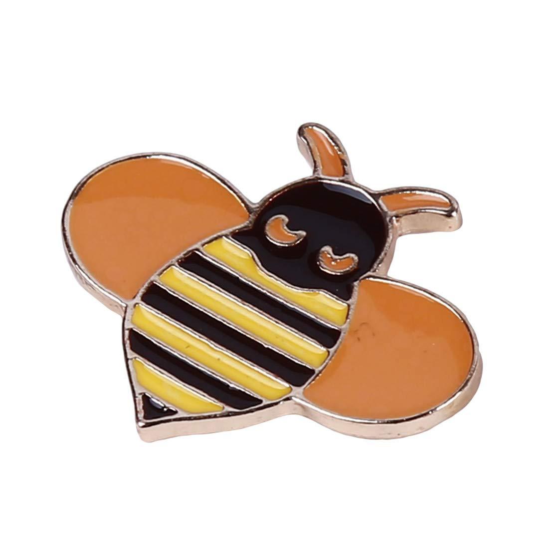 Biene Kissherely 1 St/ück Niedlichen Welpen K/ätzchen Brosche Sch/öne Tiere Emaille Abzeichen Pin Kleidung Rucksack Zubeh/ör Geschenk