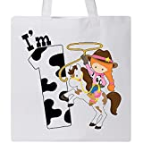 Inktastic - I'm One-cowgirl riding horse birthday Tote Bag White