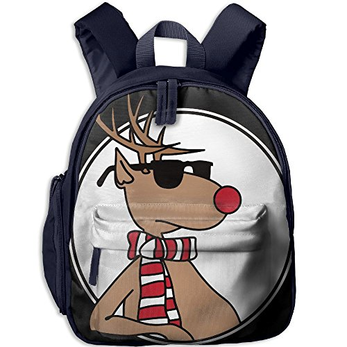 Children Pre School Backpack Boy&girl's Sunglass Reindeer Book - Oxford Sunglasses Street