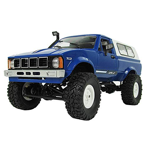 Outtop(TM) Remote Control Car WPL C24 RC 1:16 4WD 2.4G Military Rock Crawler Cars Off-Road Buggy (Blue)
