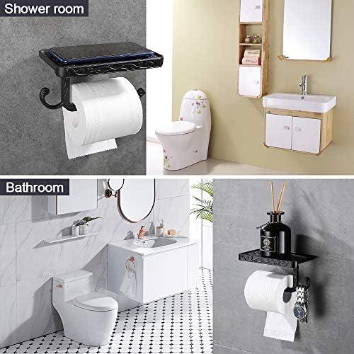 Blue Canyon chrome salle de bain porte-rouleaux de papier toilette avec étagère Support Home stand