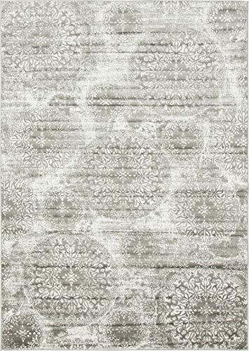 Unique Loom Sofia Collection Traditional Vintage Gray Area Rug (7' x 10') (10 Rug X 7)
