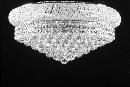 FLUSH EMPIRE CRYSTAL CHANDELIER CHANDELIERS LIGHTING 12X24