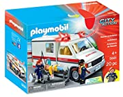 Playmobil Rescue Ambulance: Help the medics transport the patient to seek medical help with the Rescue Ambulance. The Rescue Ambulance's lights and siren can be activated to signal that a rescue is in progress. Set includes three figures, stretcher, ...