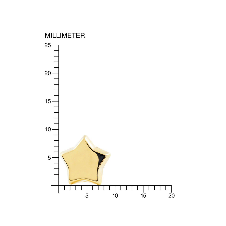 Pendientes Oro Ni/ña Estrella lisa en brillo 9kts