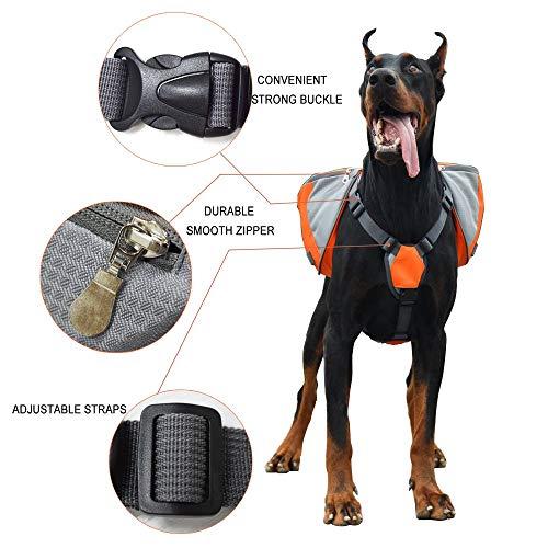 Lifeunion Adjustable Dog Saddle Backpack, Orange