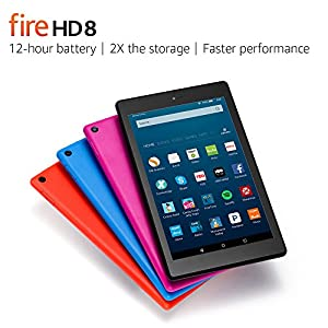 "Fire HD 8 Tablet with Alexa, 8"" HD Display, 16 GB, Magenta - with Special Offers (Previous Generation - 6th)"