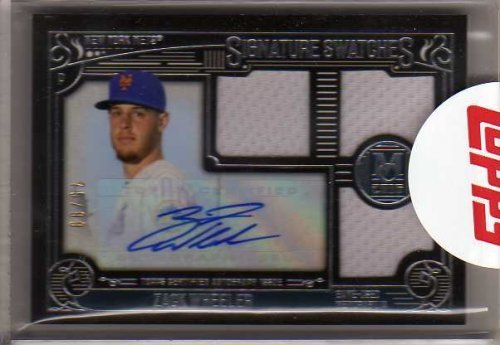 2016 Topps Museum Collection Signature Swatches Triple Relic Autographs #SSTZW Zack Wheeler Auto Game-Worn Jersey Card #70/99