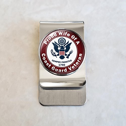 - Coast Guard Veteran Proud Family Member Money Clip