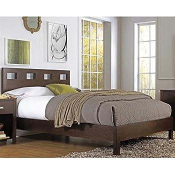 Modus Furniture RV26F5 Riva Platform Bed, Queen, Chocolate Brown