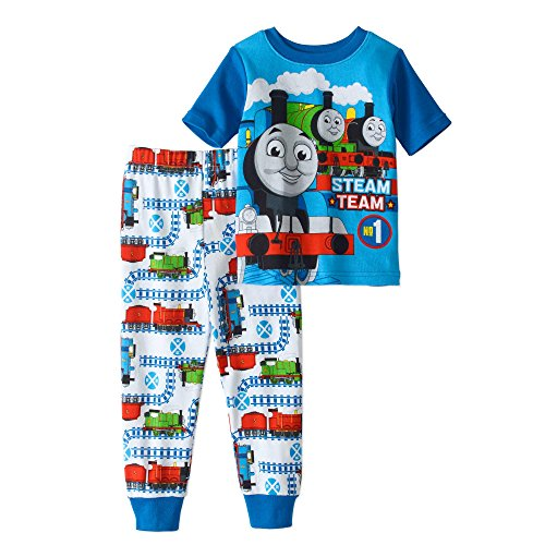 Thomas & Friends The Train Boy Short Sleeve Tight Fit Cotton Pajama Set Size,Multiple,4T