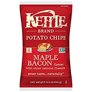 Kettle Brand Potato Chips, Maple Bacon, 8.5-Ounce Bags (Pack of 12)