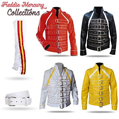 Freddie Mercury Concert Queen Yellow Synthetic Jacket -