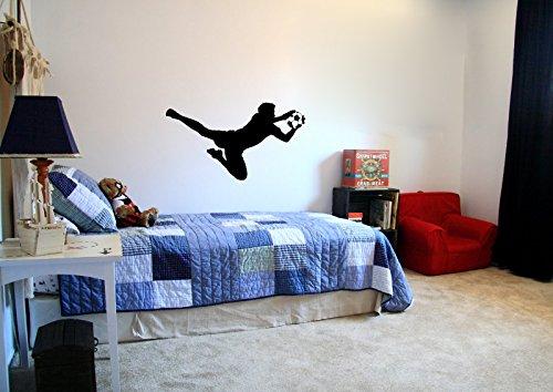 Graffiti Custom Canvas - Goalie Goalkeeper and Soccer Ball Vinyl Wall Decal Sticker Graphic