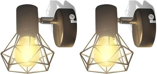 GoodWork4UEu Aplique lámpara de Pared LED, 2 uds, Negro, Estilo industrialCasa y jardín Iluminación Lámparas Apliques de Pared: Amazon.es: Hogar