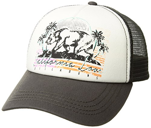 Billabong Women's Retro Bear Trucker Hat Charcoal One Size ()