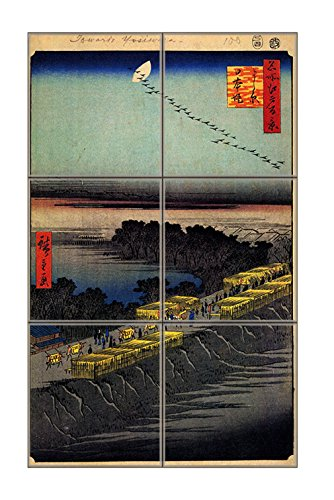 Nihonbashi Bridge (Hiroshige) Vertical Tile Mural Satin Finish 18