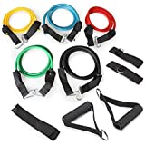 Gonex Resistance Band Set For Legs, Weight Loss Or Body Building - Perfect for Home & Travel Gym