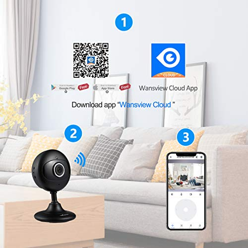 Wansview New Version Home Security IP Camera,1080P Wireless WiFi Indoor  Camera for Baby/Elder/Pet/Nanny with Motion Detection and Two-Way Audio,  with