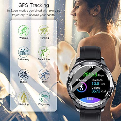 Smart Watch, Fitness Tracker with Heart Rate Monitor, IP68 Waterproof Smartwatch 1.3″ Touch Screen, Activity Tracker Step Counter Sleep Monitor Message Call Pedometer for Women and Men 51tvs08M5dL