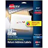 Avery Matte White Color Printing Labels for Inkjet Printers, 0.75 x 2.25 Inch, Pack of 600 (8257)