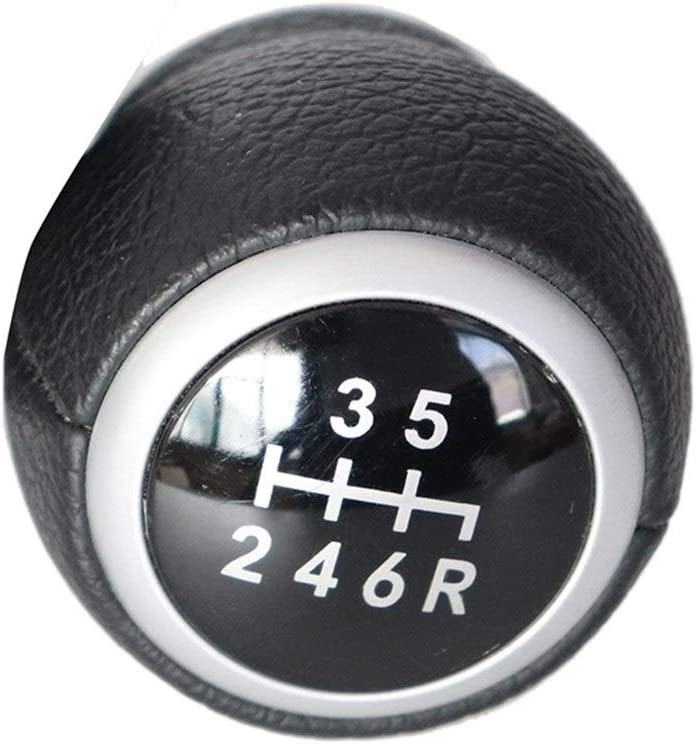 OooyaA Fit for//Subaru Impreza WRX STI Forme de Voiture 6 Vitesses Pommeau de Levier 2009-2018 Levier Garni de Cuir