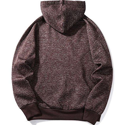 MANTORS Men's Soft Hoodie Sweatshirt Keep Warm Sport Pullover Hooded Coffee M by MANTORS (Image #2)