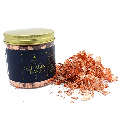 Genuine Copper Leaf Schabin Flakes Metallic Foil Flakes for Gilding, Painting Arts and Crafts (16oz jar)