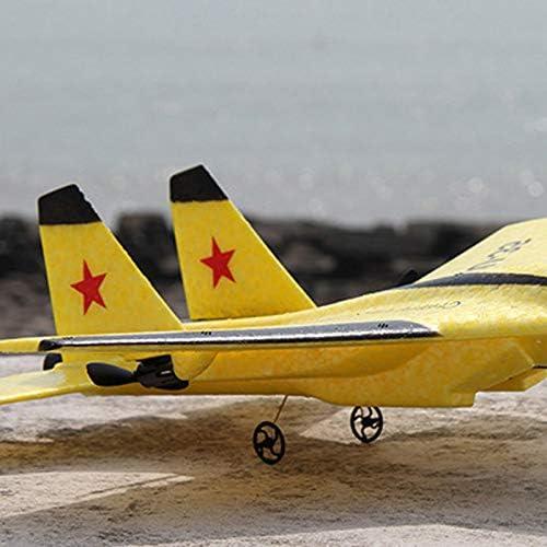 JVSISM RC Avi/óN de Juguete Epp Espuma de Embarcaci/óN El/éCtrica Al Aire Libre Rtf Radio Control Remoto Su-35 Empujador de Cola Quadcopter Planeador Modelo de Avi/óN para Ni?O Amarillo