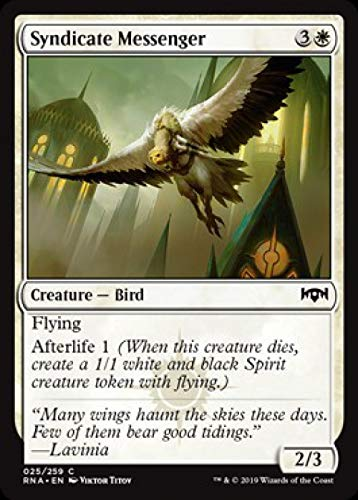 Magic: The Gathering - Syndicate Messenger - Ravnica Allegiance (Mtg Best Flying Creatures)