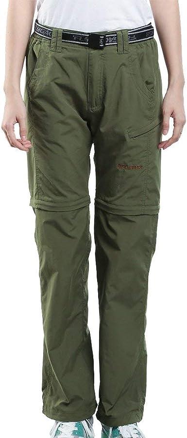 Amazon Com Jomlun Pantalon De Trabajo Para Mujer De Secado Rapido Convertible Ligero Para Senderismo Y Pesca Clothing