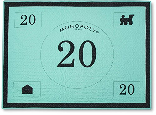 "Price comparison product image Junk Food Monopoly Money Bed Blanket (50""x70"") - Green"