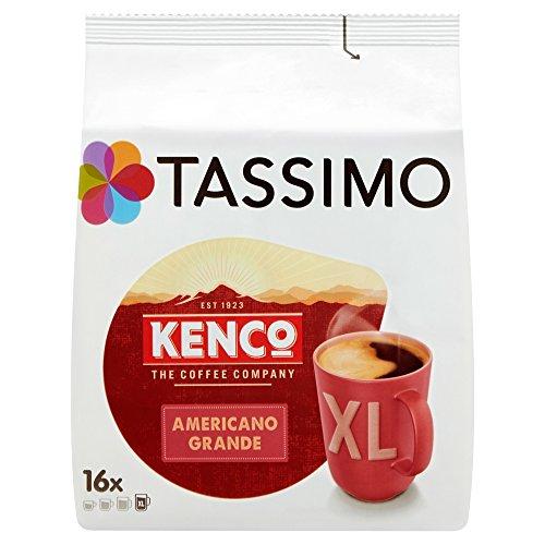 TASSIMO Kenco Americano Grande Coffee Capsules T-Discs Refills 5 Pack, 80 Drinks