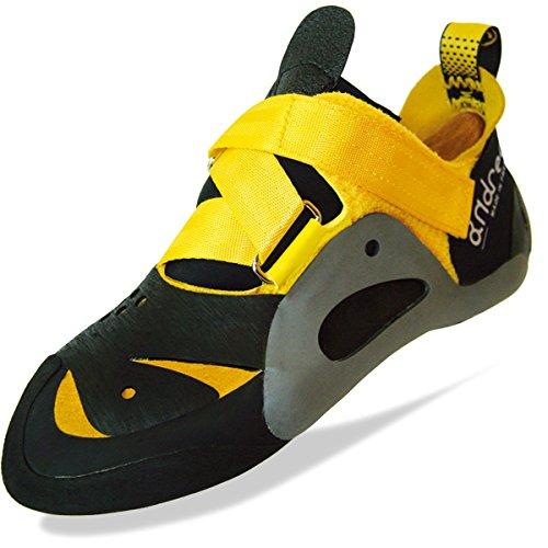 Andrea Boldrini hombre zapatillas de escalada Negro negro y amarillo Talla:41 1/2 Negro - negro y amarillo