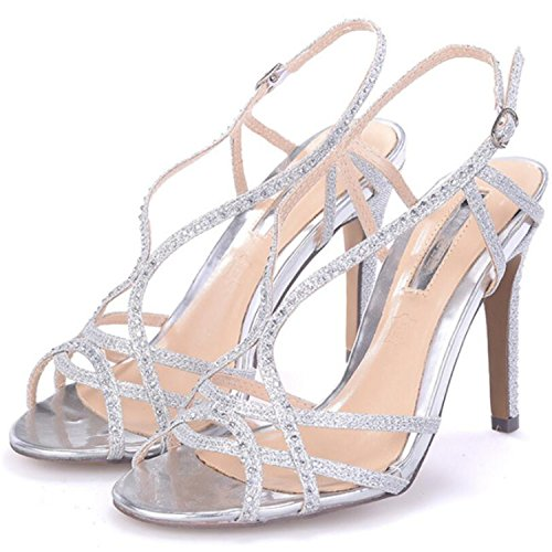 Women Sandals Sandalias Heel Westbrook Woman Gold Ankle Robert Strap Sandals Silver Sandals Strappy Shoes High Xq01Ovn