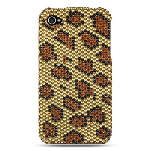 - Dream Wireless Full Diamond Case for iPhone 4/4S - Retail Packaging - Gold Leopard
