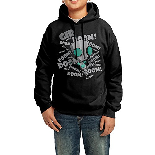[QSDFE Youth Unisex Hooded Sweatshirt Invader Zim Doom Black Size XL] (The Sims 3 Costume Chest)
