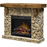 dimplex smp904st fieldstone pine and stonelook electric fireplace mantel gds26l5 - Electric Fireplace With Mantel