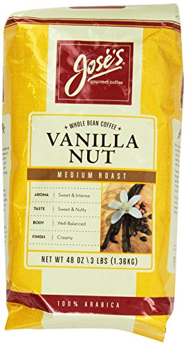 Joses Whole Bean Coffee Vanilla Nut 3 Lbs