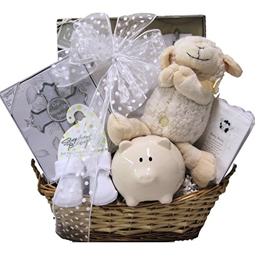 Great Arrivals Baby Christening Baptism Gift Basket, Bless This Baby Girl