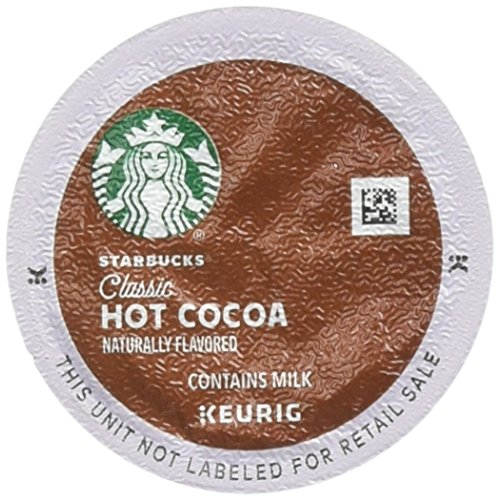 Starbucks Classic Hot Cocoa K-Cup for Keurig Brewers, 1 Box of 16 (16 Total K-Cup pods)