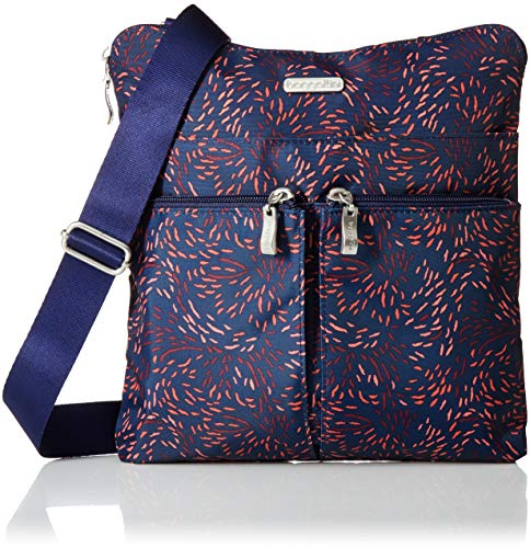 Baggallini Horizon Lightweight Crossbody Bag – Multi-Pocketed, Water Resistant Travel Purse with Removable Wristlet
